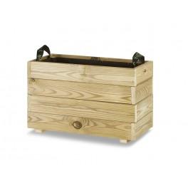 Jardinera madera rectangular (60x30x40)