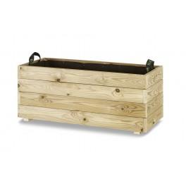Jardinera madera rectangular (90x40x40)