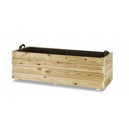 Jardinera madera rectangular (120x45x40)
