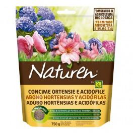 Abono granulado hortensias y acidófilas Naturen (750 gr)